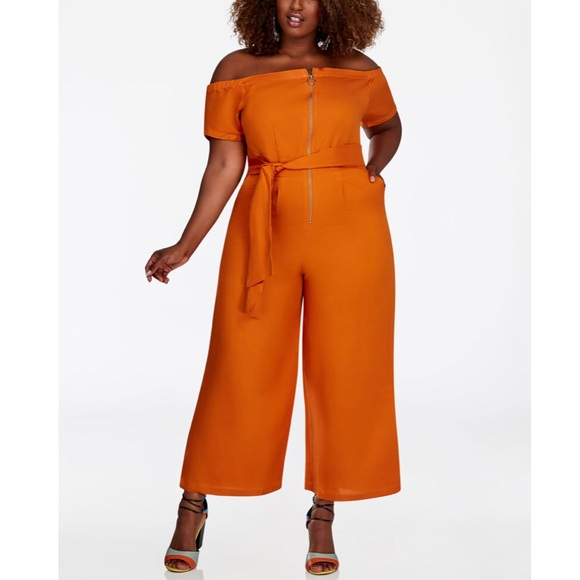 7855f253110 NWT Ashley Stewart Marmalade Color Jumpsuit